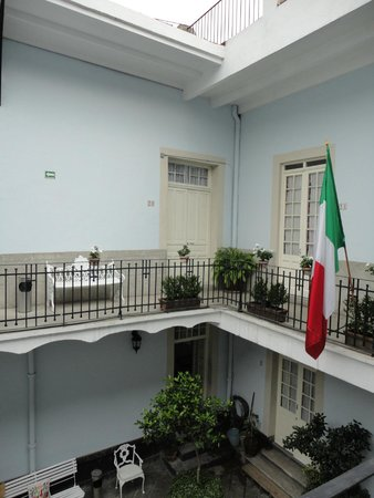 Casa San Ildefonso Hostal: from upstairs