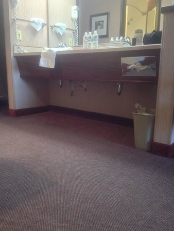 Phoenix Inn Suites Salem: Wallpaper falling off in strips