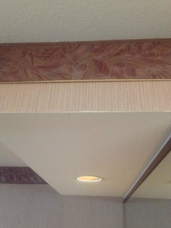 Phoenix Inn Suites South Salem: Wallpaper border curling up around the room