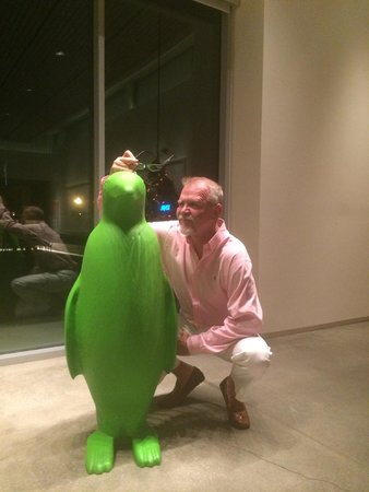 21c Museum Hotel Bentonville: The Ubiquitous Green Penguin!