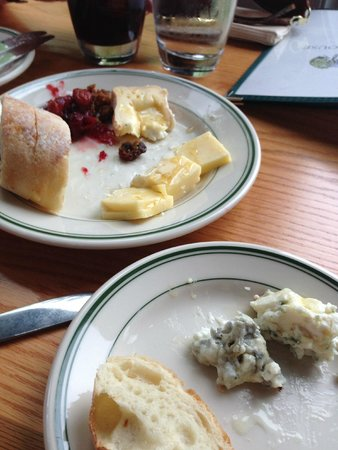 Jordan Pond House: First cheese plate, took the pic after I started....