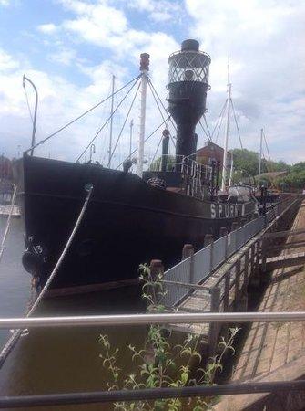 anchored in Hull marina