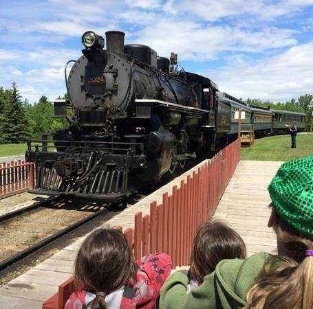 Heritage Park Historical Village: All Aboard! Waiting for a ride on the train.