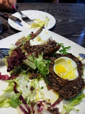 The Melville Bar: Haggis Encased Scotch Egg