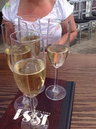 Hull Marina: champagne in hospitality area for powerboat racing