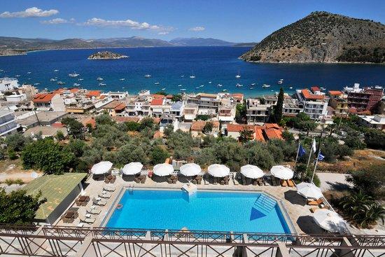 Hotel King Minos: Blick vom King Minos auf Tolo