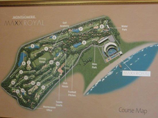 Maxx Royal Belek Golf Resort: yerleşim planı