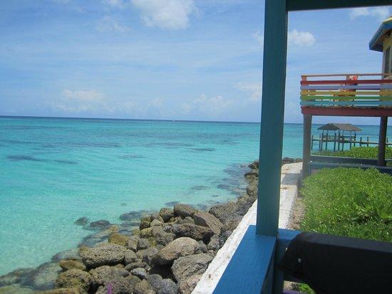 Compass Point Beach Resort: view from hut