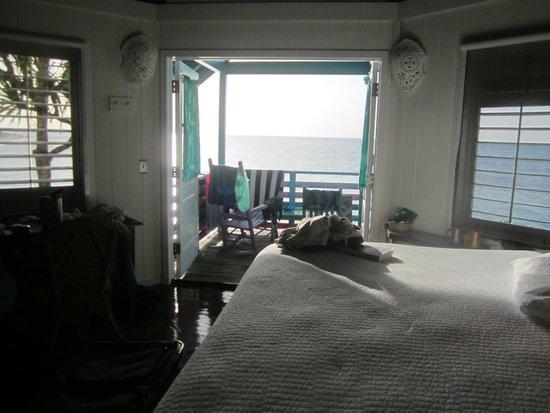 Compass Point Beach Resort: ocean front hut