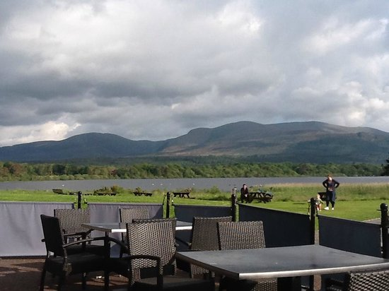 Lake Hotel: the clouds over the lake- perfect place to sit and watch