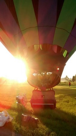 Thompson Aire: Getting ready to launch...over a beautiful sunrise...