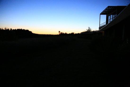 La Gree des Landes : Profilo albergo al tramonto