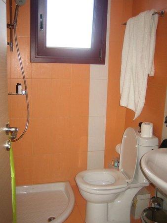 Azure Luxury Villas: Compact shower room and toilet in twin bedroom