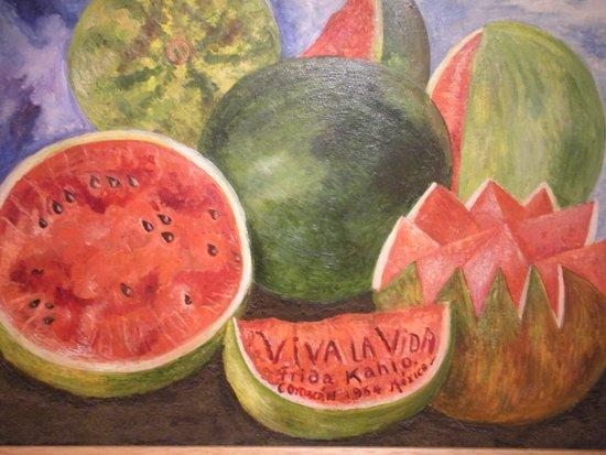Sevilla Palace: En la casa de Frida Kalo en Coyoacán...una de susu bellas pinturas