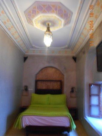 Le Dromadaire Bleu : Plafond de la chambre
