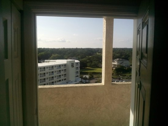 Sands Beach Club Resort: View out of unit toward inlet through unit door