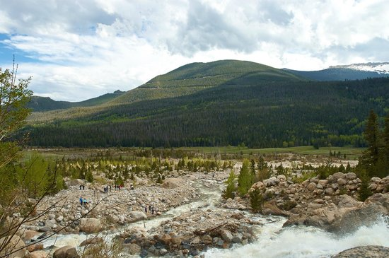 Alluvial Fan : View from near the top of the falls
