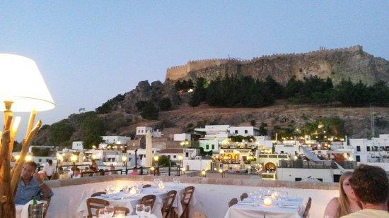 Odyssia Restaurant: Blickrichtung Akropolis