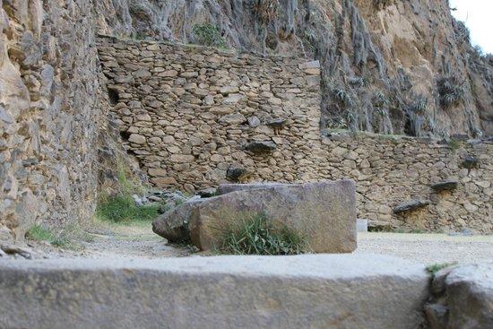 Temple d'Ollantaytambo : Construções em pedra de Ollanta