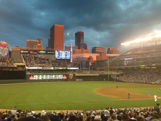 Sunset at Target Field - Picture of Target Field ...