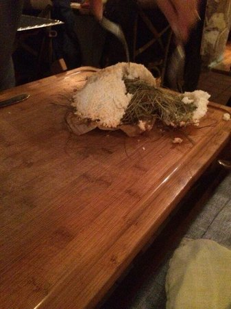 Ciasa Mia: Wow! Steak cooked in real hay and crusted in salt!  Wonderful.