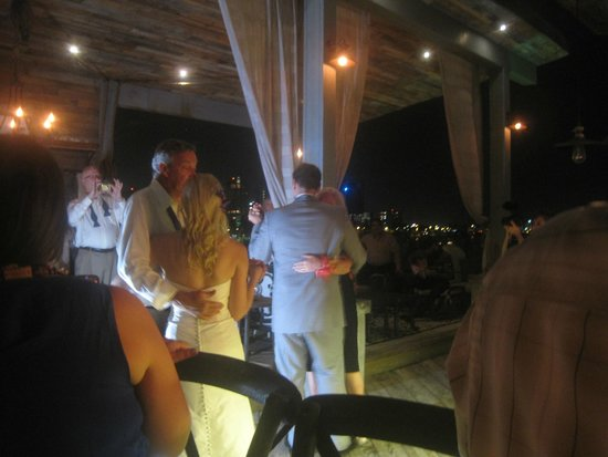 Olive Boutique Hotel: Dancing on the rooftop with water views