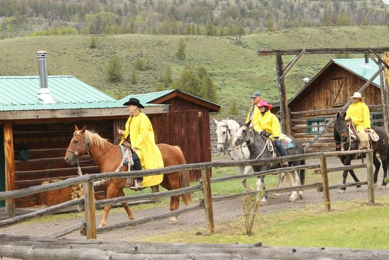 Triangle C Ranch: Riding, rain or shine!
