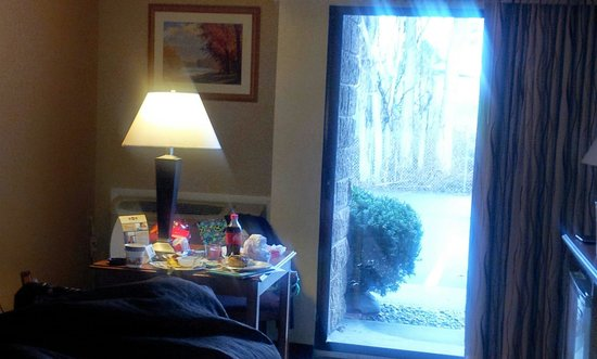 Best Western Clifton Park : Patio door