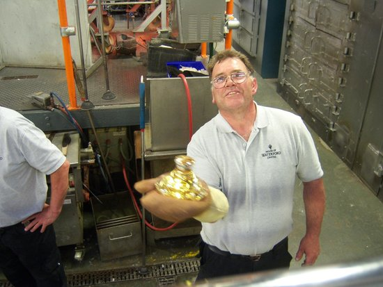 Waterford Crystal: finished blowing