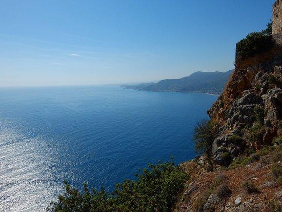 Alanya Kalesi (Castle): Вид с горы