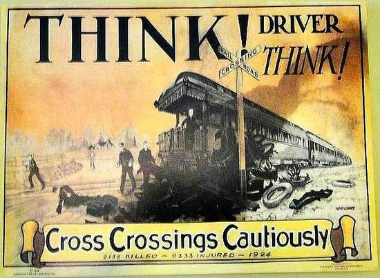 Wilmington Railroad Museum: train safety poster