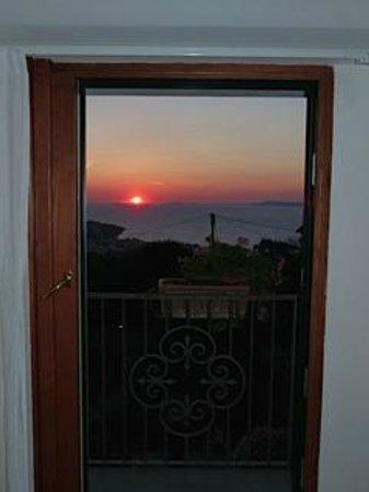 Villa Pane: Sunset each evening from room