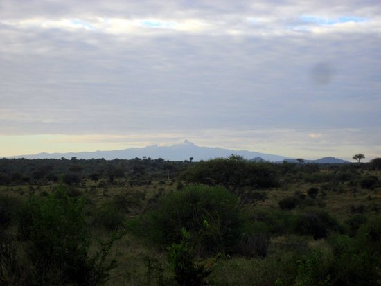 "Suyian Soul: Early Morning View of Mt. Kenya From the Outdoor Dining ""Room"""