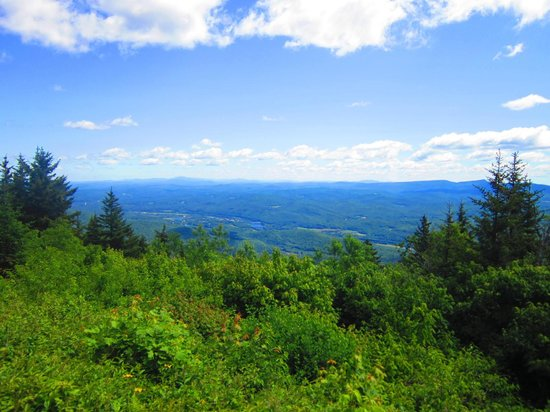 Mount Ascutney: at the top