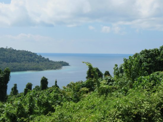 Velit Bay: View from the road in
