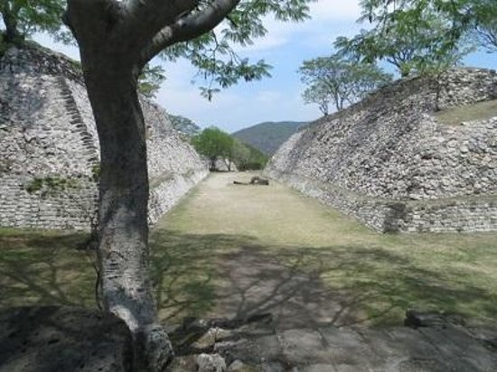 Archaeological Zone of Xochicalco : One of the Juegos de pelote