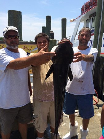Calabash Fishing Fleet : 45lbs Cobia caught aboard the Navigator on a 1/2 day fishing trip.