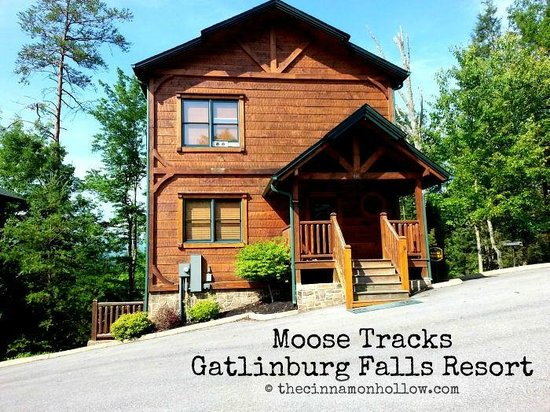 Gatlinburg Falls Resort: Moose Tracks Cabin front view