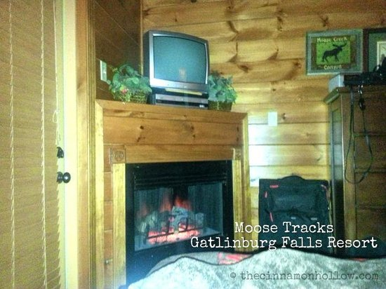 Gatlinburg Falls Resort: Bedroom in lower level of Moose Tracks cabin.