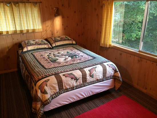Tuscarora Lodge and Canoe Outfitters: Queen in cabin four