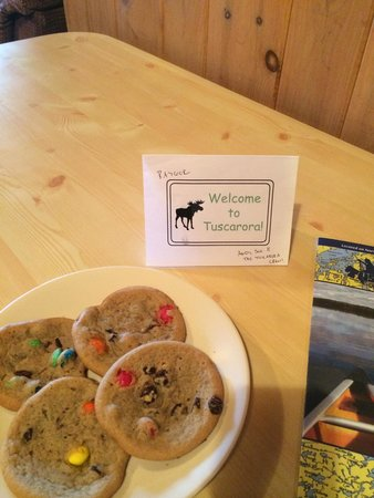 Tuscarora Lodge and Canoe Outfitters: Cookies left for us by Andy & Sue