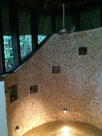 Ian Anderson's Caves Branch Jungle Lodge: Indoor shower