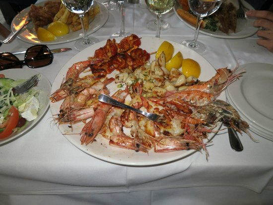 Fishmonger: Off the menu platter - 4 langoustines  + prawns + calimari etc