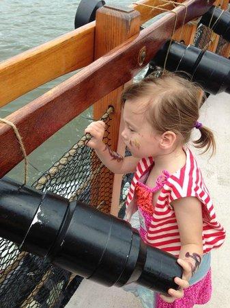 Pirate Adventures on the Chesapeake: Madison enjoying the cruise