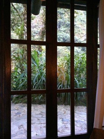 Inkaterra Machu Picchu Pueblo Hotel: The lush fauna outside the window of our room