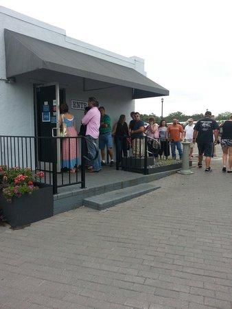 Blue Bonnet Cafe: Line out the door at Blue Bonnet. Still not a long wait