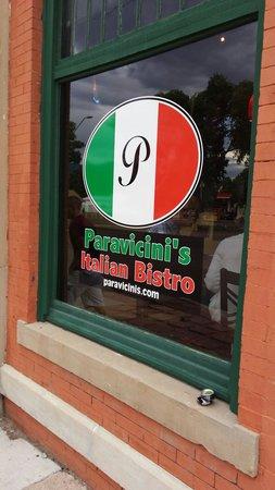 Paravicini's: Window sign