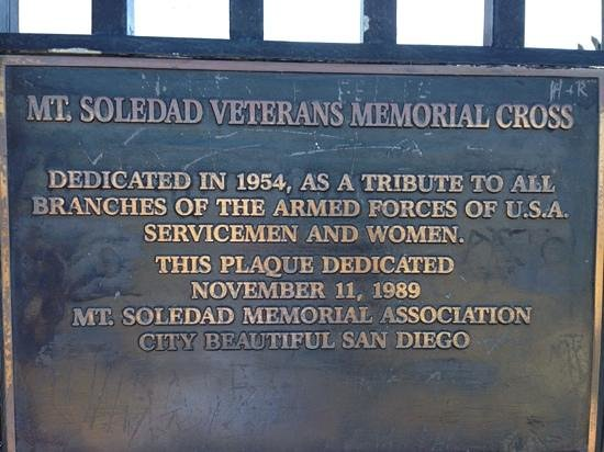 Mt. Soledad National Veterans Memorial: Mount Soledad