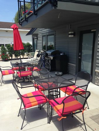 Saugatuck Landings: Full access to a very cool gas BBQ.