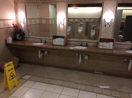 Embassy Suites by Hilton Sacramento - Riverfront Promenade: Mess in the downstairs bathroom